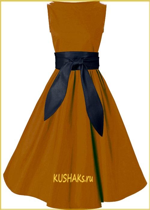 Черный кожаный пояс для платья